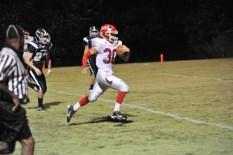 number 30 Noah Edmondson scampers down field for a Patriots Touchdown