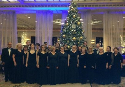 Chorus in hotel lobby