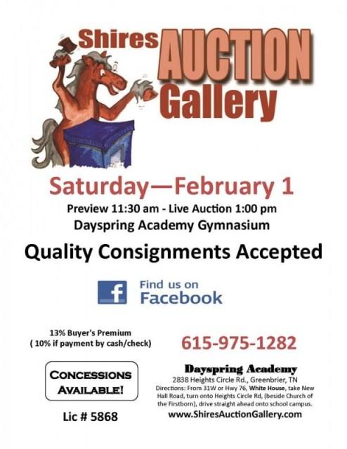 auction february 1 2014