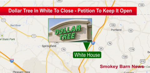 dollar tree in white house closing slider