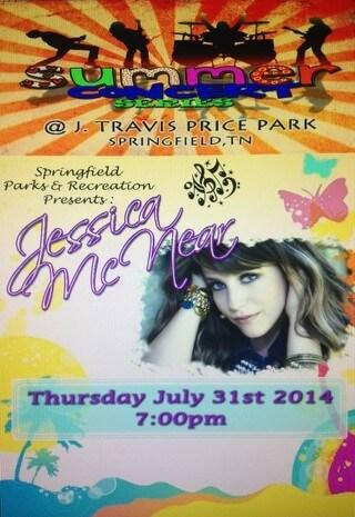 2014 summer concerts jessica mcnear flyer josh