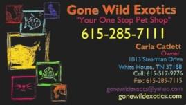 Gone Wild animal bus card a