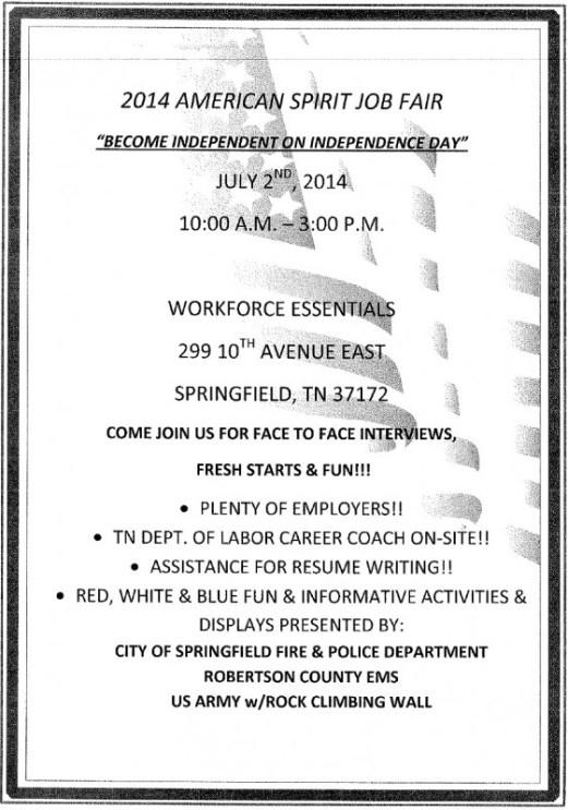 Workforce Essentials Job Fair