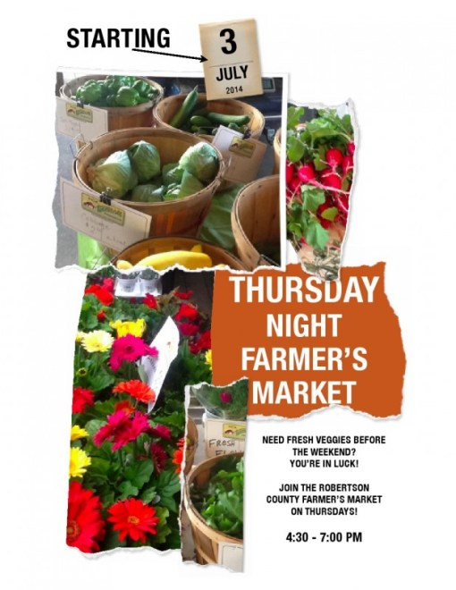 Farmers market Thursday night flyer