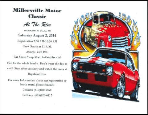 Millersville car show 2014 flyer