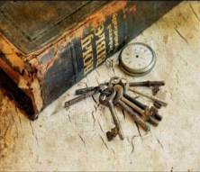 old Bible and watch