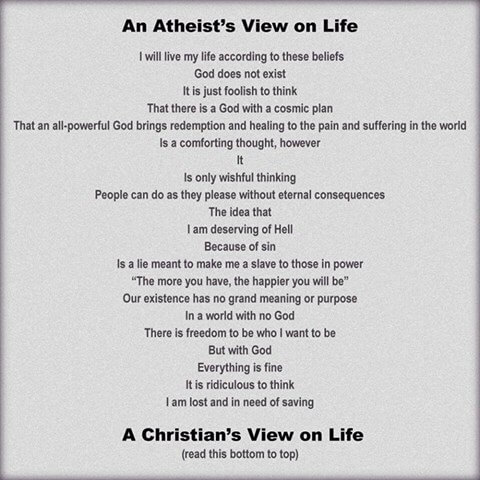 atheist and christian view