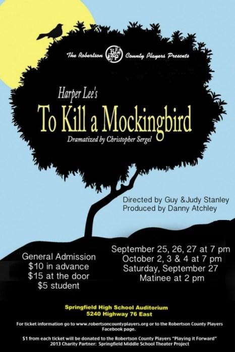 to kill a mockingbird flyer