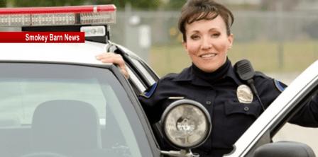 lady cop slider