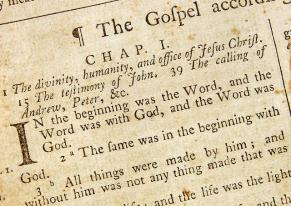 Old gospel text pic