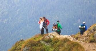 group rock climbing