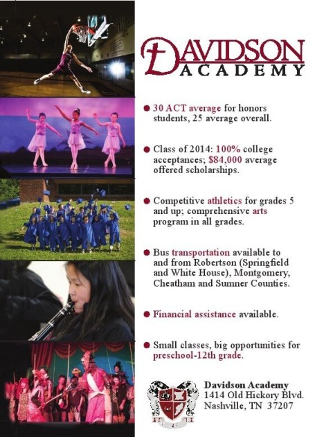 Davidson Academy Flyer back