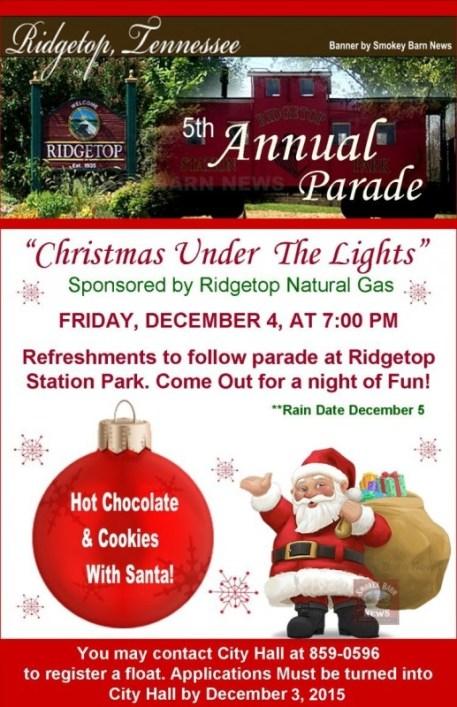 Ridgetop Christmas flyer 2015 SBN 2015
