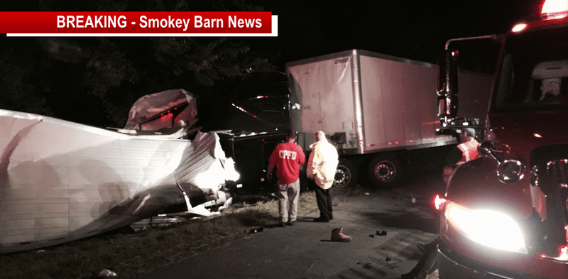 Two Tractor-trailers Crash On I65-S In Cross Plains: Two