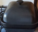 The Cast Iron stove top smoker pan is a wonderful addition to any kitchen for indoor, condo smoking