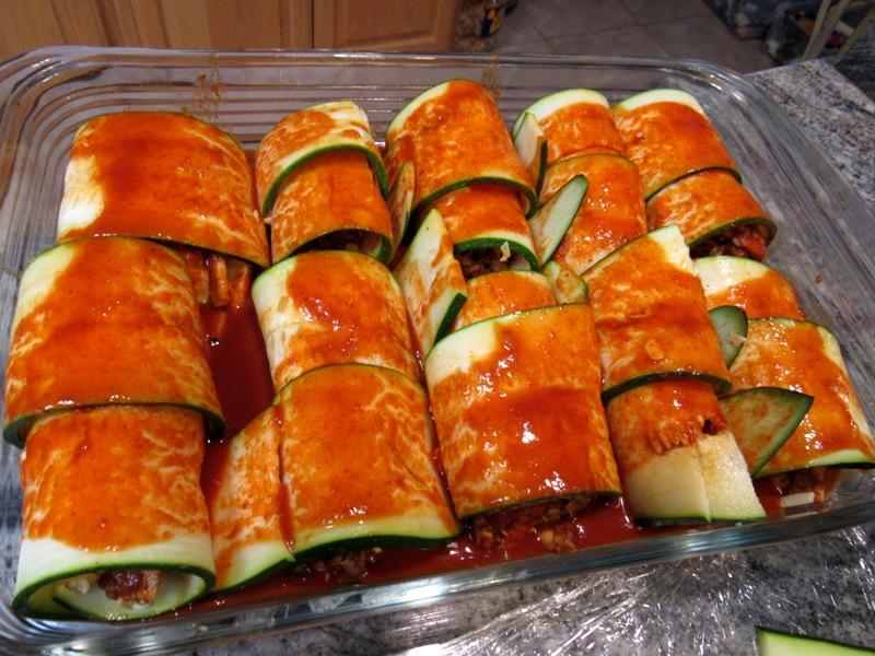 Zucchini Rolled Enchiladas
