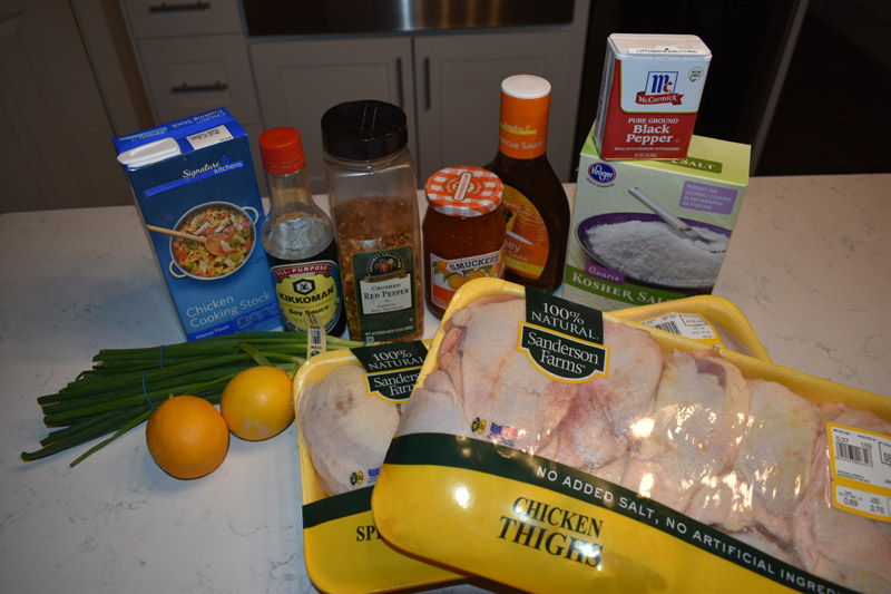Apricot Glazed Chicken - Ingredients
