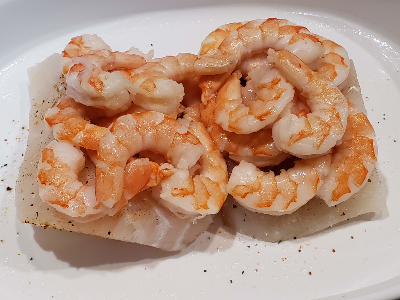 Cod and Shrimp