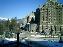 Famous Fairmont Banff Springs Hotel With Large