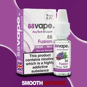88 Vape Fusion 10ml Vape Juice - smooth vapourz