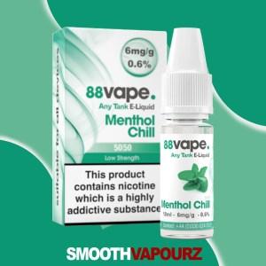 Menthol Chill 88 Vape 10ml Vape Juice - smooth vapourz