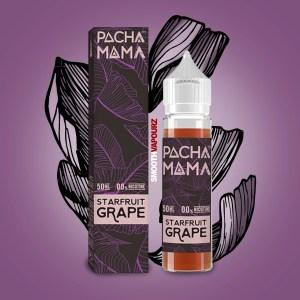 Pacha Mama e-liquid 50ml shortfill Starfruit Grape - smooth vapourz