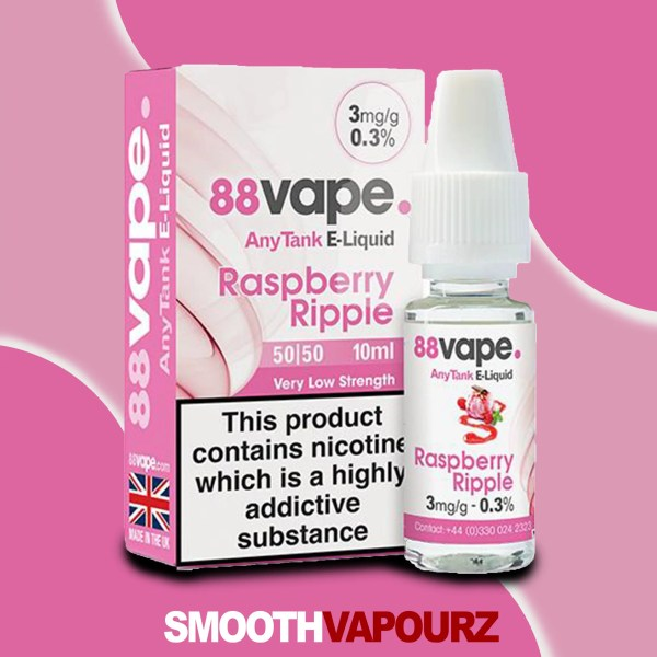Raspberry Ripple 88 Vape 10ml Vape Juice - smooth vapourz