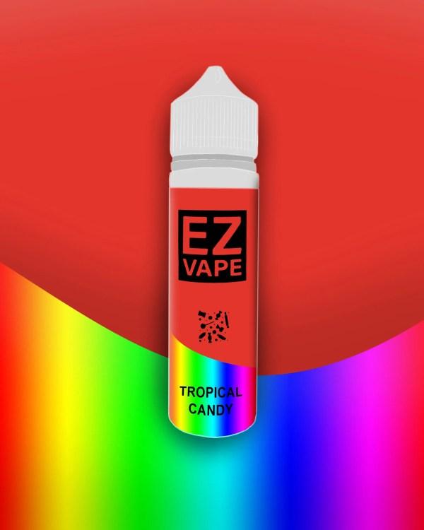 EZ Vape - 50ml - Tropical Candy - 3 for £10 - Smooth vapourz