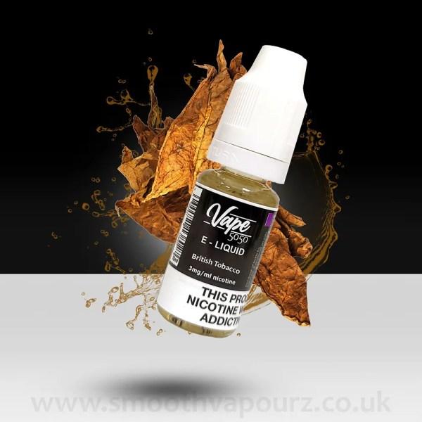 Vape 5050 - British Tobacco - 10ml e-liquid - Smooth Vapourz