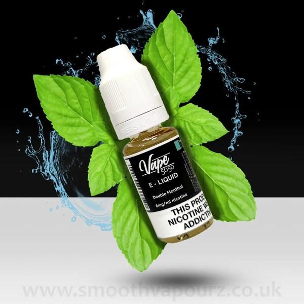 Vape 5050 - Double Menthol - 10ml e-liquid - Smooth Vapourz
