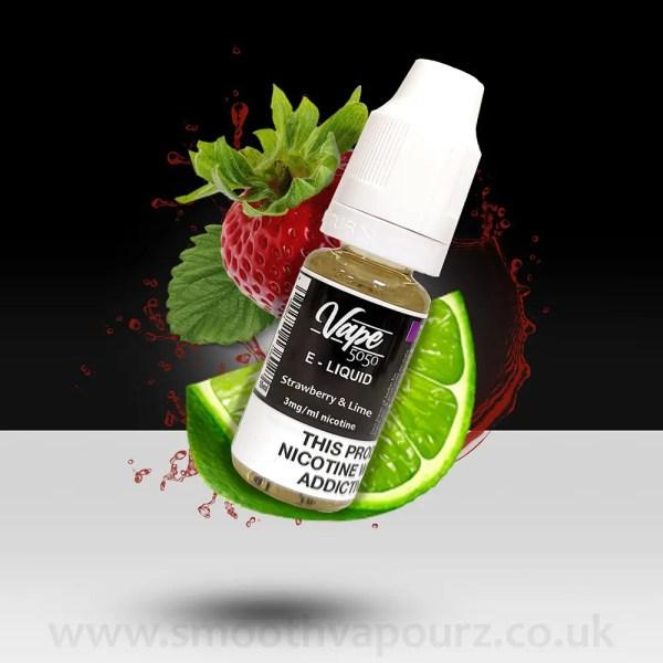 Vape 5050 - Strawberry and Lime - 10ml e-liquid - Smooth Vapourz