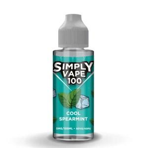 Simply Vape 100 - 100ml e-liquid Vape juice - Cool Spearmint - Smooth Vapourz