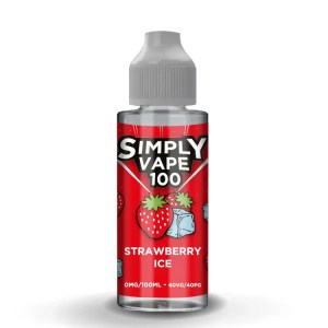 Simply Vape 100 - 100ml e-liquid Vape juice - Strawberry Ice - Smooth Vapourz