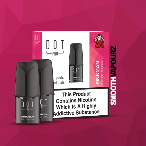 Dot Pro Pod pinkman 20mg pods 2 pack smooth vapourz