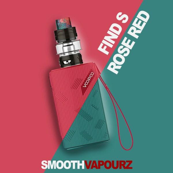 Voopoo Find S - Rose Red - Vape Kit - Smooth Vapourz