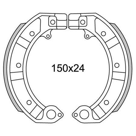 Serie ganasce anteriore per VESPA 50 PK 125 150 200 PX