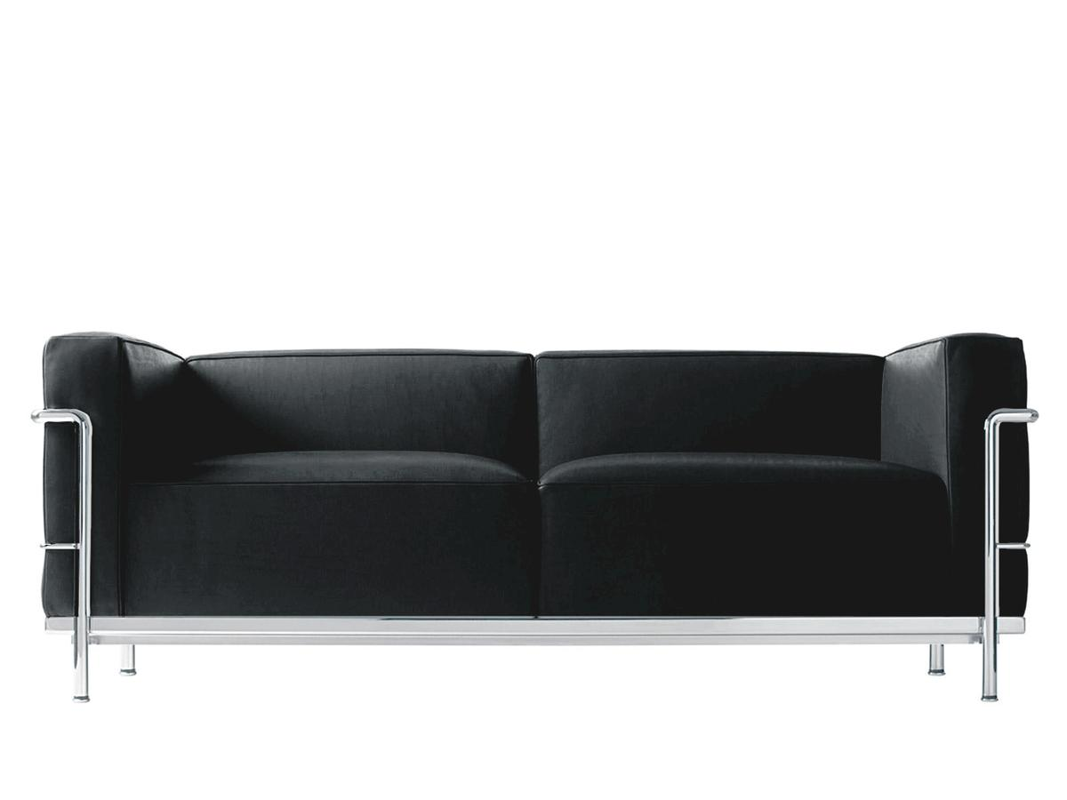 lc3 sofa rustic leather with chaise cassina by le corbusier pierre jeanneret charlotte