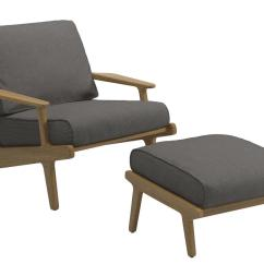 Patio Chair With Ottoman Canada Squat Stand-ups Gloster Bay Lounge Anthracite Without By Henrik