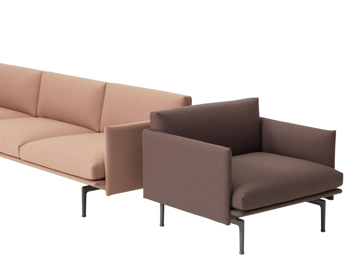 hay sofa kvadrat slipcovers for sofas and loveseats muuto outline chair twill edition smow exclusive by anderssen click here more images