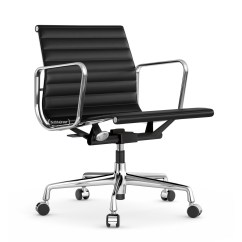 Vitra Ergonomic Chair Joovy Hook On Aluminium Group Ea 117 Chrome Plated Leather Nero By
