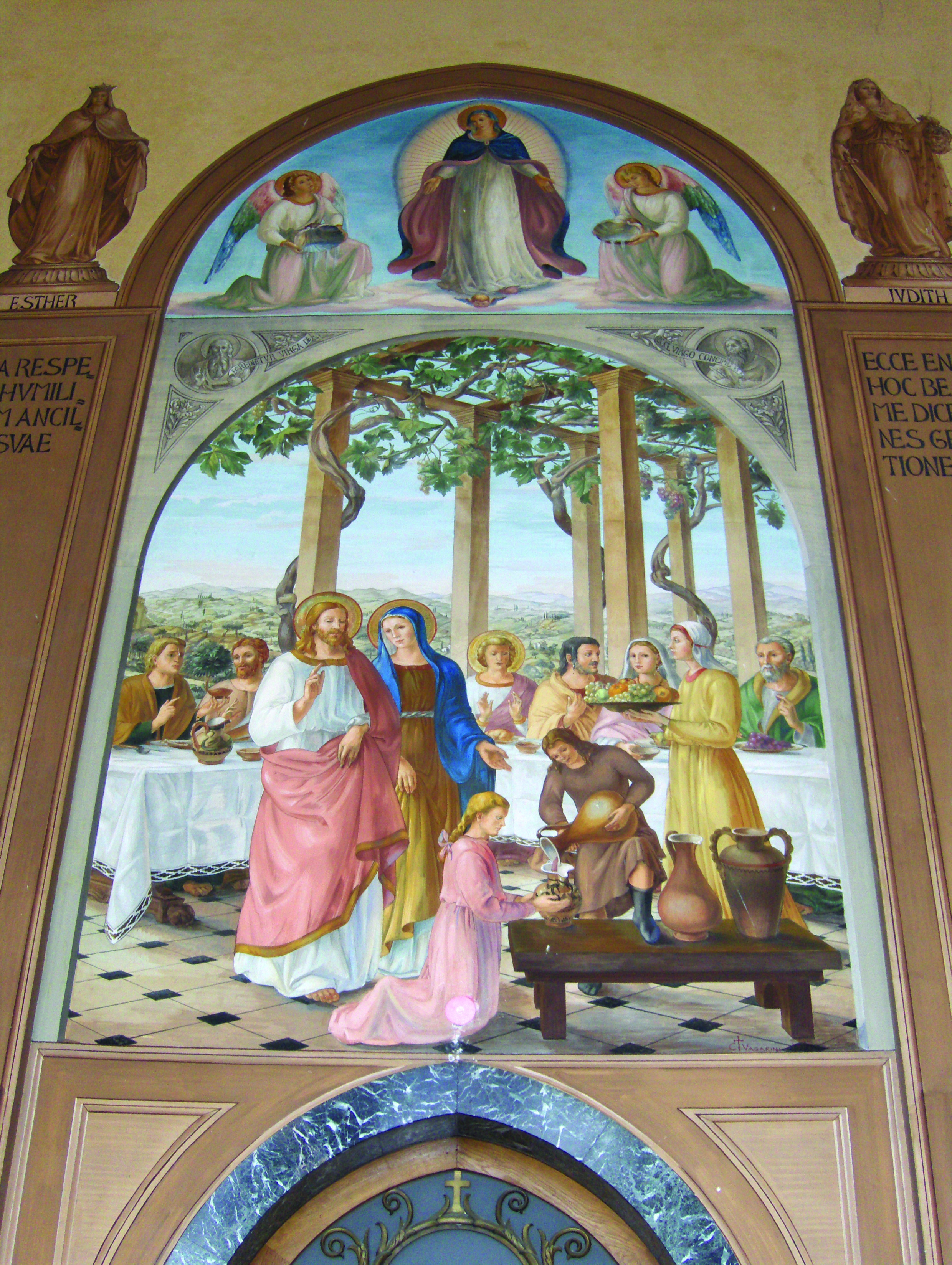 Wedding Feast at Cana  Church of the Visitation at Ein