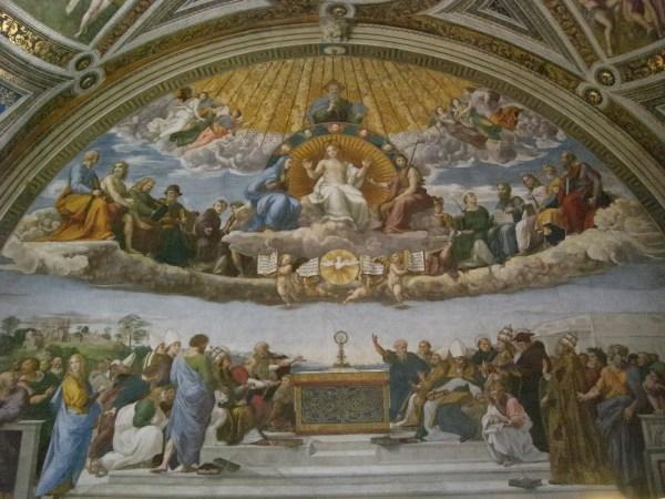 """Vatican Museum Pinacoteca Art """" Disputation"""
