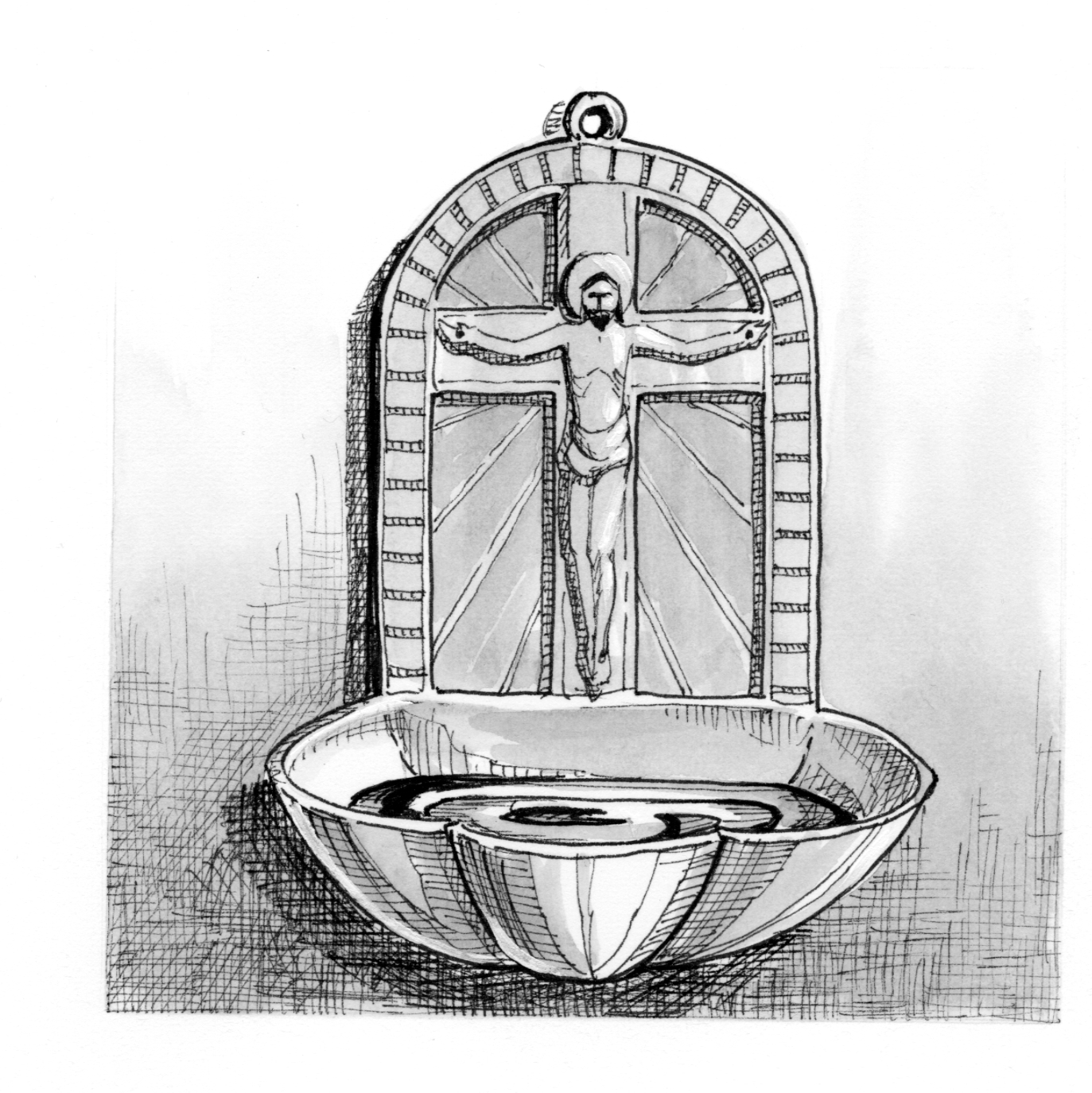 Signs And Symbols Holy Water Fount