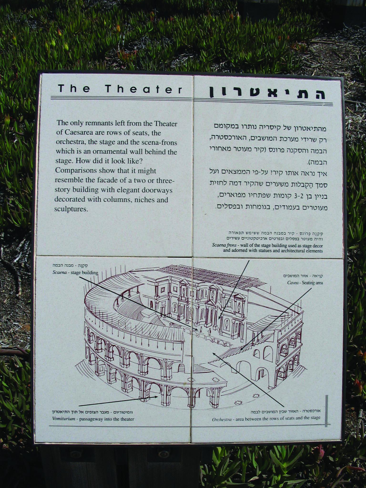 Ancient Theater In Caesarea Israel