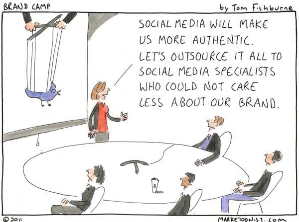 outsourcing social media, cartoon by marketoonist