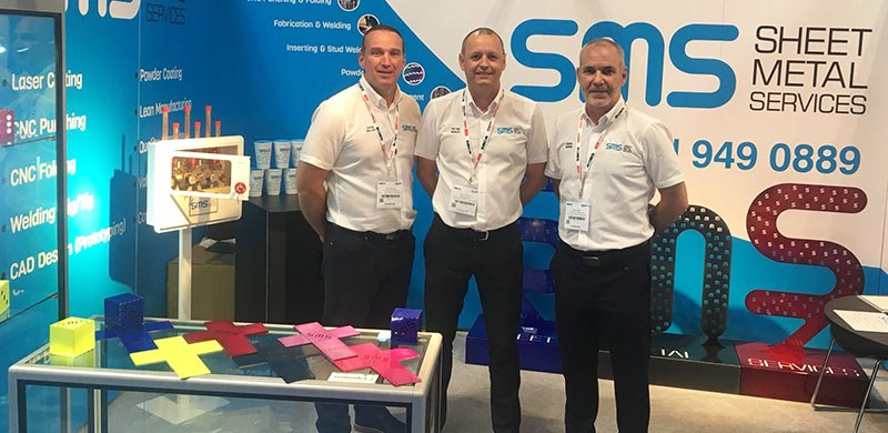 subcon 2018Image of Sheet Metal Services Seaforth Ltd management at Subcon 2018 with examples of manufacturing work
