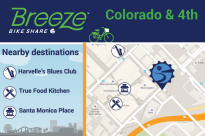 Colorado & 4th connects to Harvelle's Blues Club, True Food Kitchen, Santa Monica Place