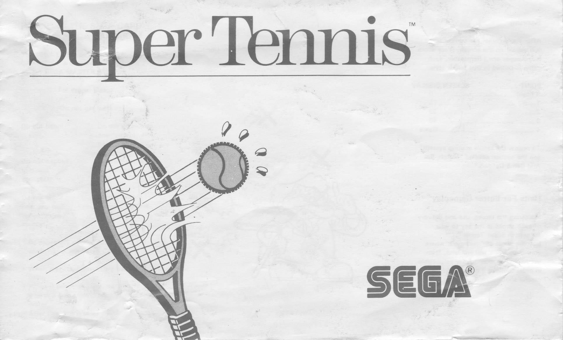 Super Tennis (スーパーテニス) / Great Tennis (グレートテニス