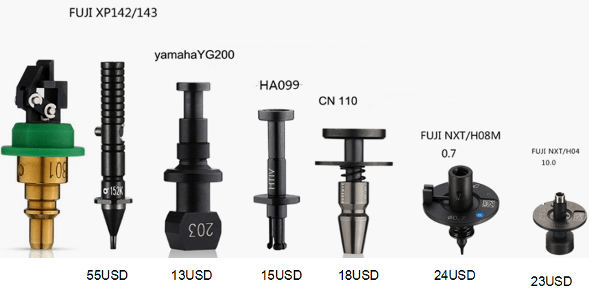 FUJI XP242 243 10.0 Nozzle .FUJI NXT Nozzles for Heads H01, H04, H04S, H08/H12, H08M and H24