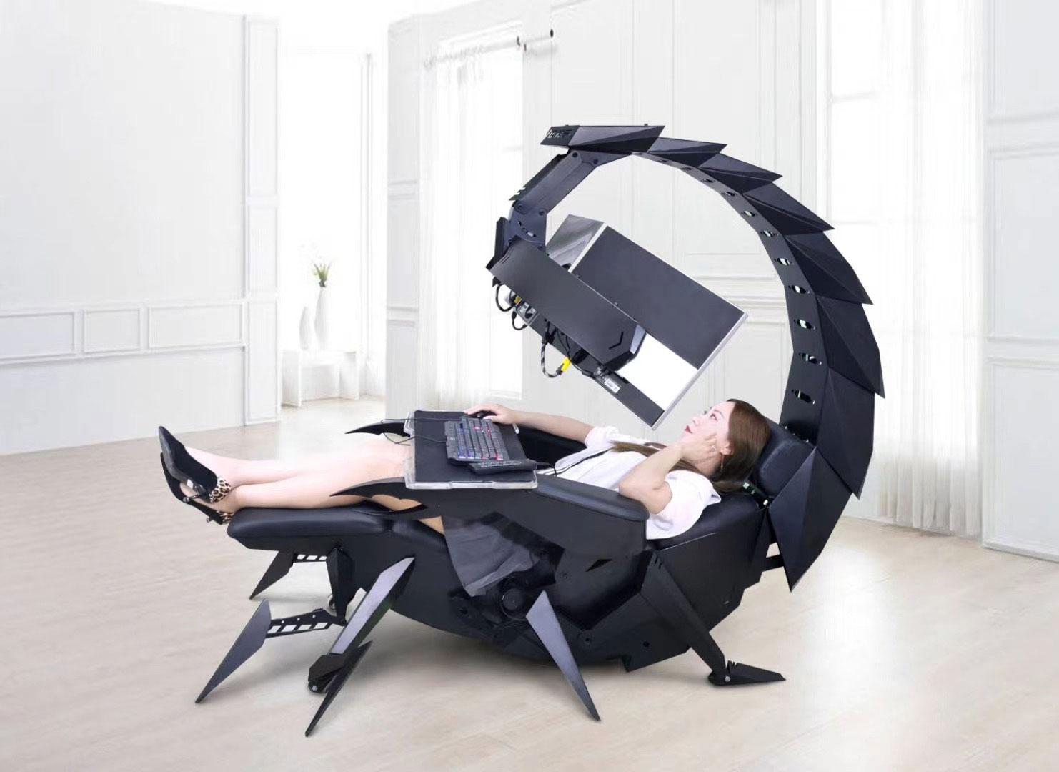 cluvens scorpion chaise ordinateur computer cockpit